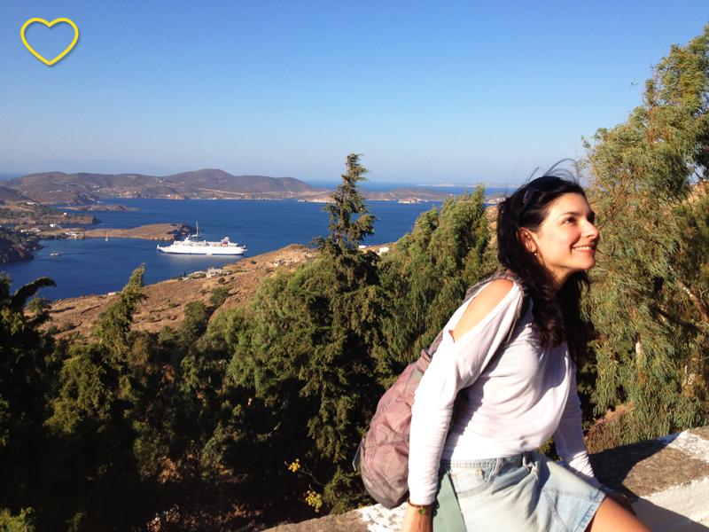 Eu em Patmos.