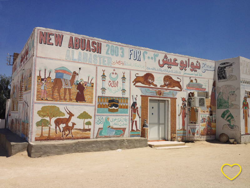 Imagem de uma casa atual no Egito.
