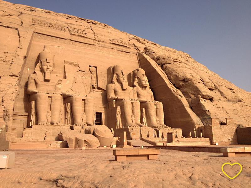 Foto do Templo de Ramsés.