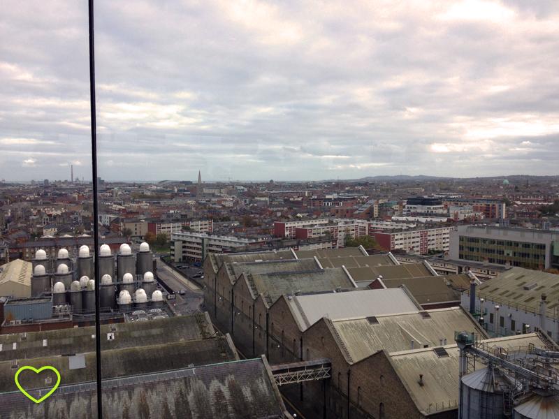 Foto panorâmica da cidade de Dublin.