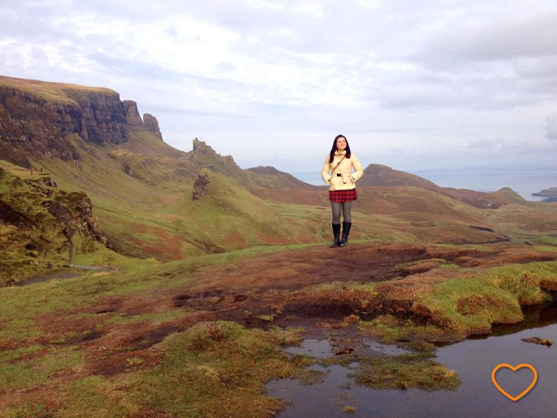 Eu no alto de uma montanha nas highlands.