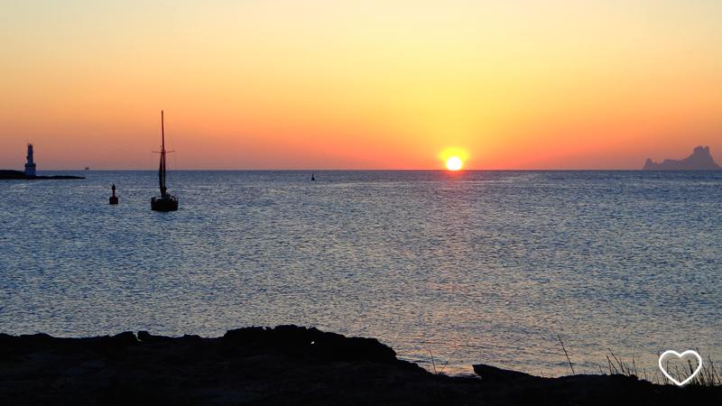 Imagem do pôr do sol.