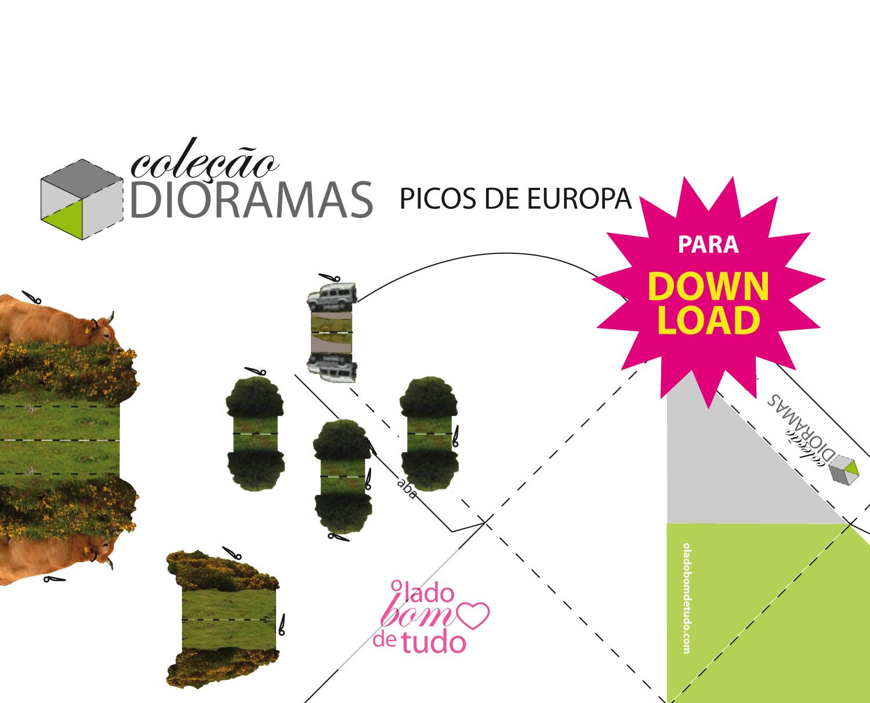 Coleção Dioramas. Picos de Europa para baixar, imprimir e montar.