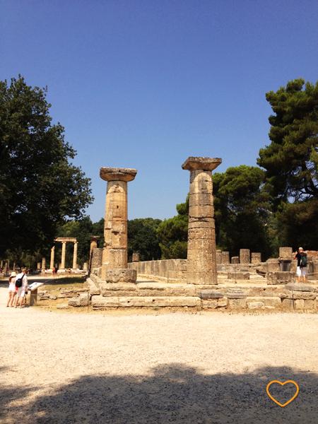 Ruínas do Templo de Hera.