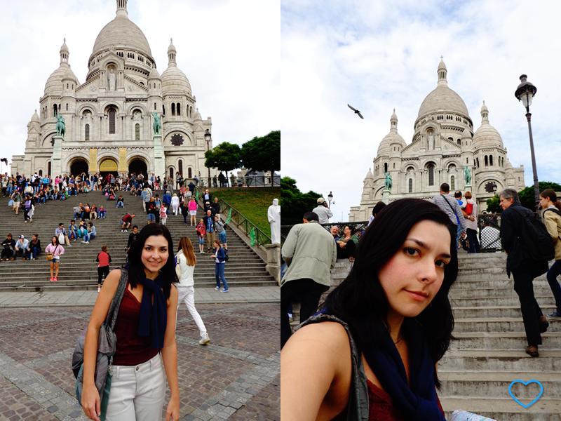 Duas fotos minhas com a Sacre Coeur.