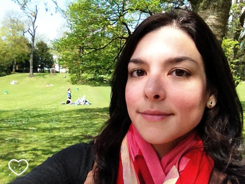 Uma selfie no Parque Ed Klein.