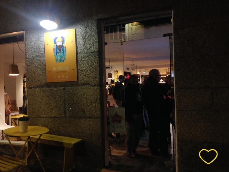 Fachada do bar Ideas Peregrinas.