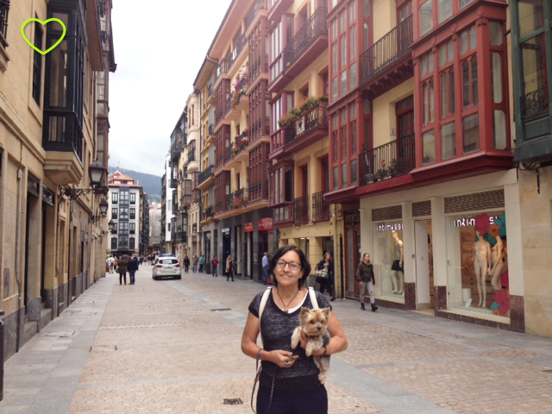 Mamãe e Lupe em Bilbao.